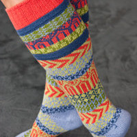 Socks By Sock Dreams  » Socks » Sunrise Fairisle Knee Highs