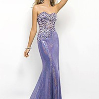 Blush Prom 9500 Lavender Sequin Gown