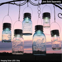 Garden Solar Jar Lights 6 Hanging Mason Jar Solar by treasureagain