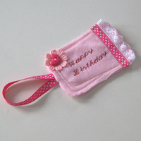 Pink Felt Gift Tag on Luulla