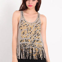 Suddenly Gone Fringe Tank Top - $24.00 : ThreadSence.com, Your Spot For Indie Clothing & Indie Urban Culture