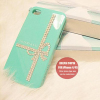 White Opal rhinestone Tiffany iphone 4 case iphone 4s case iphone cover iphone cases