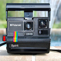 Rainbow Polaroid Spirit 600 Vintage Instand Film Land Camera