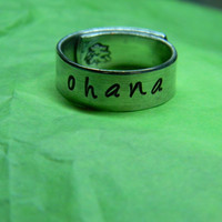 Ohana  aluminum wrapped ring 1/4 inch