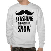 Funny Stashing Through the Snow Sweatshirt from Zazzle.com