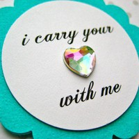 I Carry Your Heart With Me Cupcake Toppers  by PurplePeonyCouture