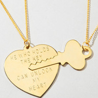Key to My Heart Necklace Set | Gold Heart Necklace | fredflare.com