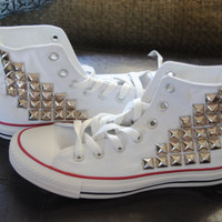 Made to Order Studded High Top Converse