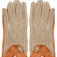 Leather Woven Gloves