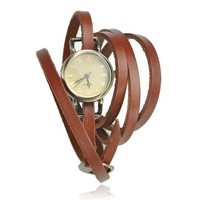 Vintage Style Multi-wraps Thin Belt Watch