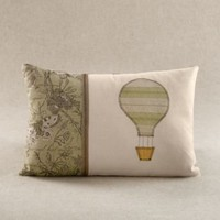 Applique Hot Air Balloon Pillow Cover | Decorative Pillows | Restoration Hardware Baby  Child