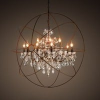 Foucault&#x27;s Orb Crystal Chandelier Medium | Chandeliers | Restoration Hardware