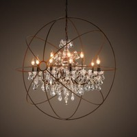 Foucault's Orb Crystal Chandelier Medium | Chandeliers | Restoration Hardware