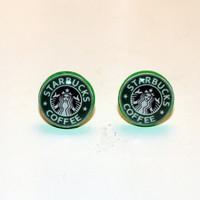 Cute Kitsch Starbucks Earrings