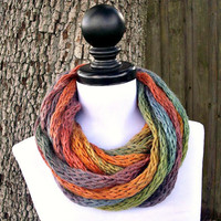 Black Friday Etsy Sale - Knit Cowl - Infinity Scarf Rope Cowl - Free Shipping
