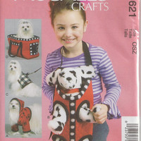 McCalls 6621 Sewing Pattern, Supplies, Cloth Dog Accessories, One Size