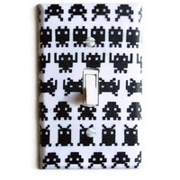 Retro Video Geek Single Toggle Switchplate
