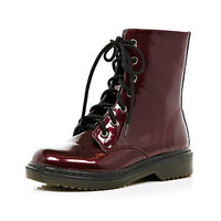 Dark red ankle boots