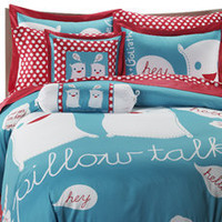 Pillow Talk Duvet Cover Set by David and Goliath?-, 100% Cotton Sateen, 300 Thread Count - Bed Bath & Beyond
