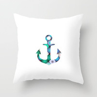 Anchor Kaleidoscope Throw Pillow by Mnika  Strigel	 | Society6