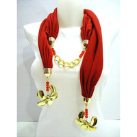 Jewelry Scarf  ,Women Accessory, Jersey Scarf  2013 Christmas gift, Winter trends and Fashion,
