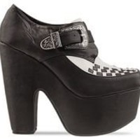 Jeffrey Campbell Warning in Black White at Solestruck.com