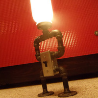 Industrial Lamp w/ Switch RoboLamp by DowntownHomemades on Etsy