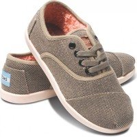 Chocolate Pop Canvas Youth Cordones | TOMS.com