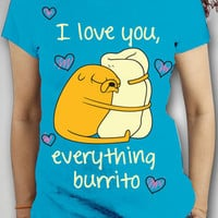 Adventure Time &#x27;I Love You Everything Burrito&#x27; Junior Fitted Tee