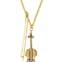 World's Tiniest Violin Necklace | Mod Retro Vintage Necklaces | ModCloth.com