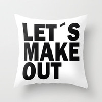 Lets make out Throw Pillow by Nicklas Gustafsson | Society6