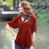 ALL-HOURS VELVET TUNIC        -                Tunics        -                Shirts        -                Women                    | Robert Redford's Sundance Catalog