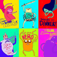 ADVENTURE TIME-- 6 SET