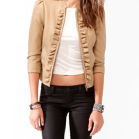 Ruffle Trimmed Racer Jacket