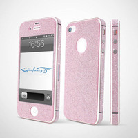 Shiny Rhinestone Full Body Cover Skin Sticker Shield For iPhone 4S/5 by bestgoods