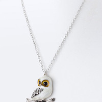 Snow Owl Necklace | Emma Stine Jewelry Set