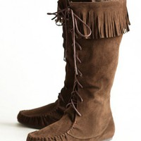 northern sky moccasin boots at ShopRuche.com