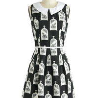 All Eyes on Unique Dress in Birdcage | Mod Retro Vintage Dresses | ModCloth.com
