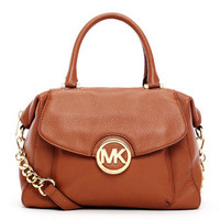 MICHAEL Michael Kors  Large Fulton Pebbled Leather Satchel - Michael Kors