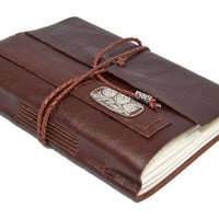 Brown Leather Journal with Bookmark