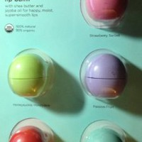 eos Organic Smooth Sphere Lip Balm - Summer Fruit, Sweet Mint, Strawberry Sorbet, Passion Fruit, Honeysuckle Honeydew (5 Pack)