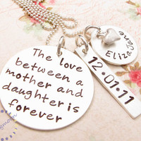 Mommy Necklace, Hand Stamped Neckla.. on Luulla