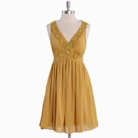le grand marais mustard dress - $46.99 : ShopRuche.com, Vintage Inspired Clothing, Affordable Clothes, Eco friendly Fashion