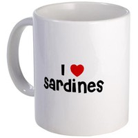 I * Sardines Mug on CafePress.com