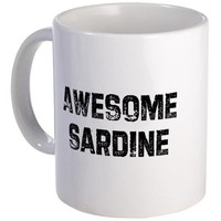 Awesome Sardine Mug on CafePress.com