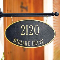 Hanging Address Plaques - Plow & Hearth