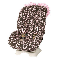 Ginny Giraffe with Ruffle Toddler Car Seat Cover
