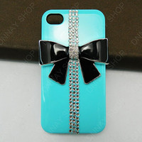 iphone 5 case  black bows case gifts   iphone 4 case iphone 4s case 3D iphone 5 cases