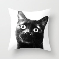 hello! Throw Pillow by Marianna Tankelevich | Society6