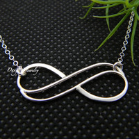 Black Friday Etsy Double Silver Infinity Necklace, Forever Necklace, Eternity Necklace, Silver, Sisters, Bridesmaid Gifts, Best Friends